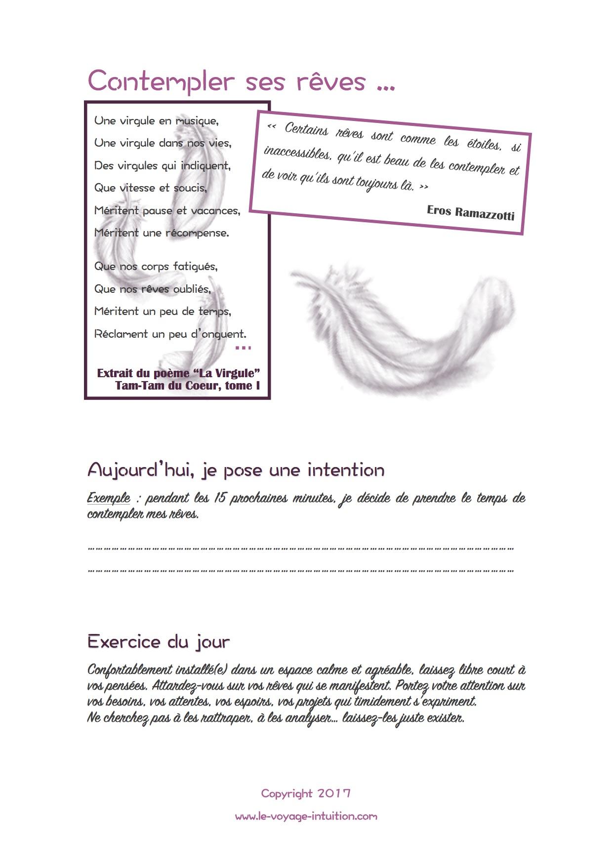 PDF gratuit – Contempler ses rêves