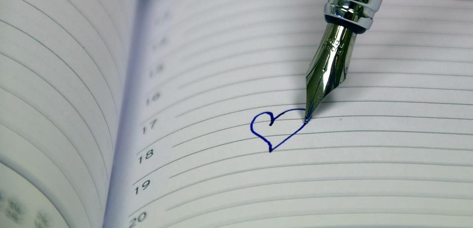 écriture émotionnelle coeur